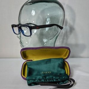 Auth. Gucci blue and black glasses